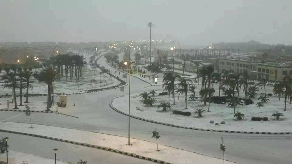 Египет, покрытый снегом
