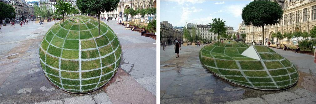 Газон - иллюзия в Париже