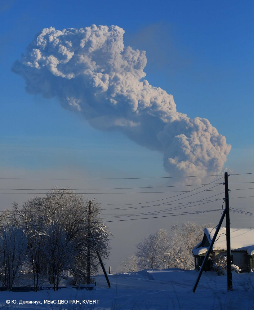 Извержение вулкана Шивелуч