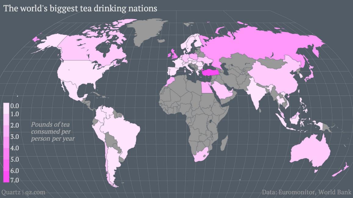Потребление чая в мире