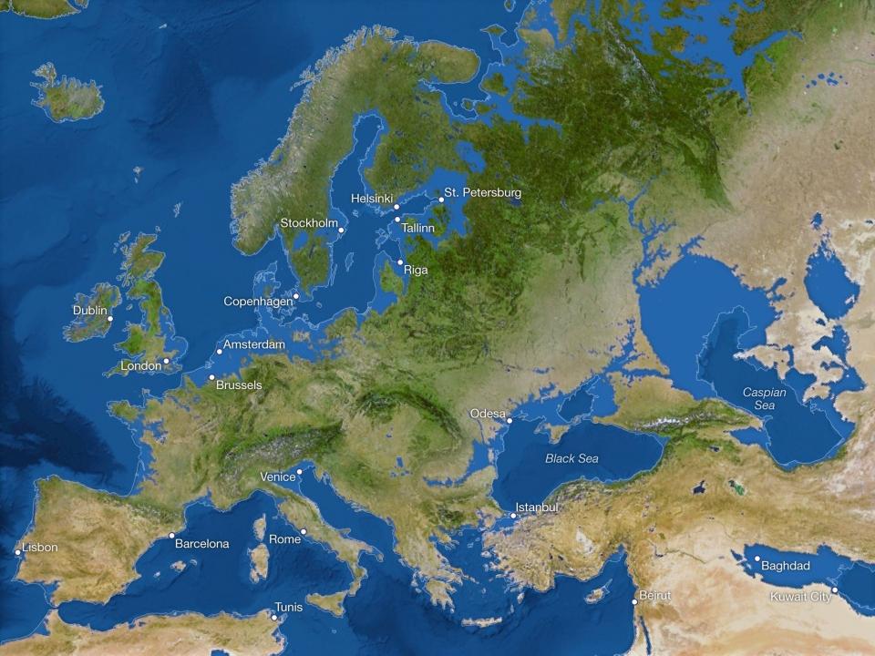 Европа после поднятия уровня вод Мирового океана