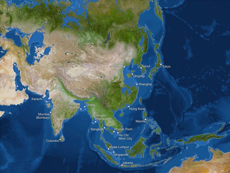 Азия после подъёма уровня вод Мирового океана