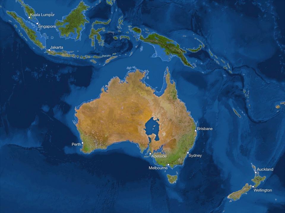 Австралия после подъёма Уровня вод Мирового Океана