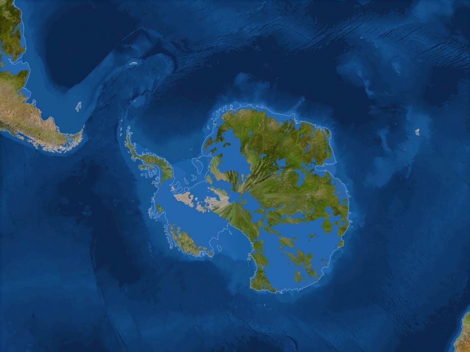 Антарктида после подъёма Мирового океана