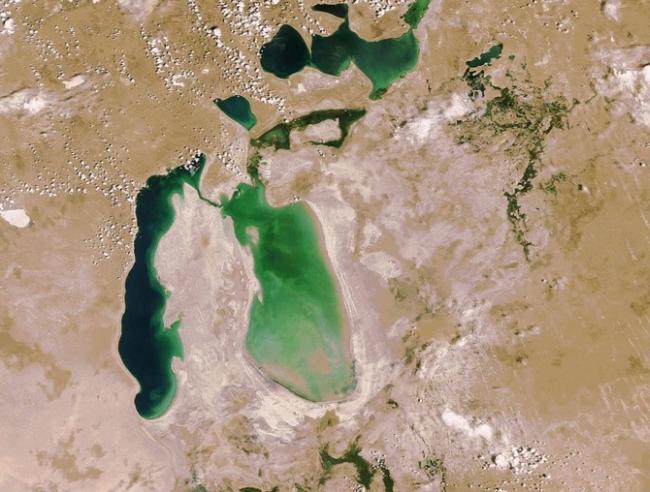Аральское море в 2006 году