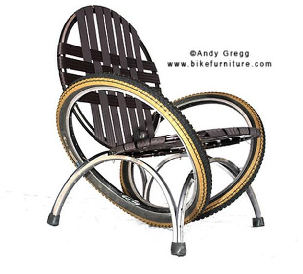 Кресло из автомобильных покрышек