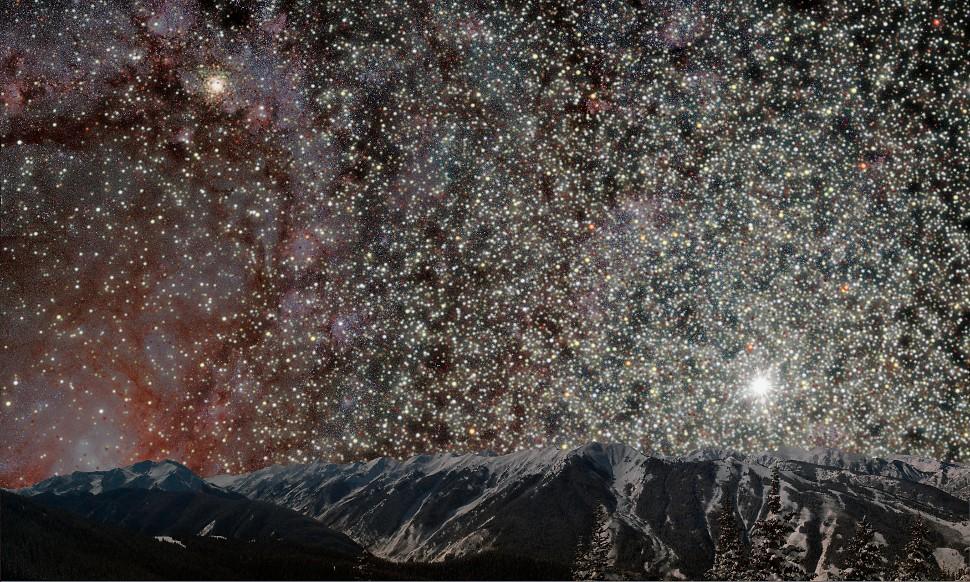 А что если бы мы жили ближе к центру галактики?