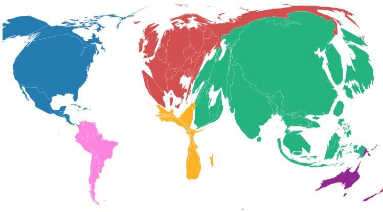 Страны по объёмам выбросов углекислого газа