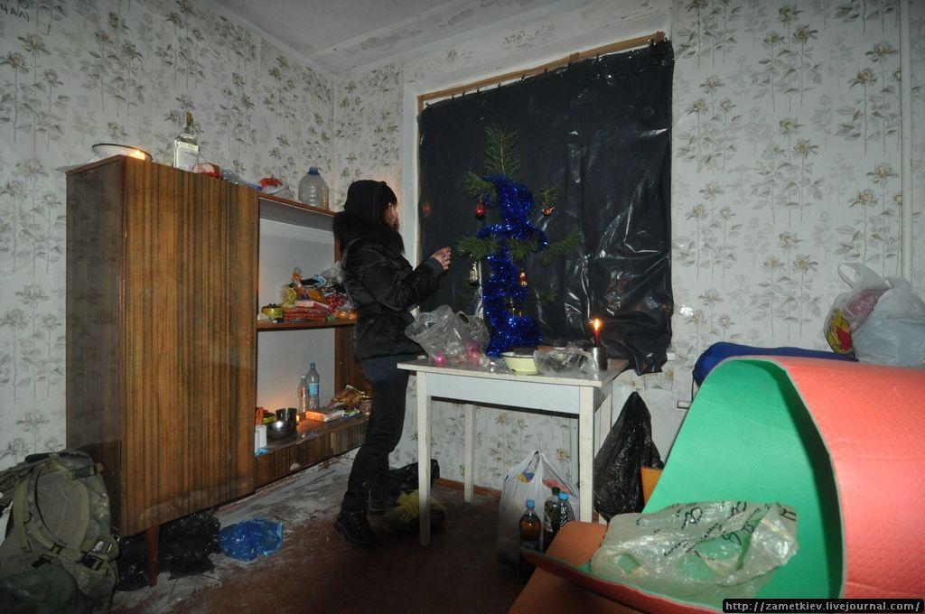 Новогоднее оформление одной из квартир в Припяти.
