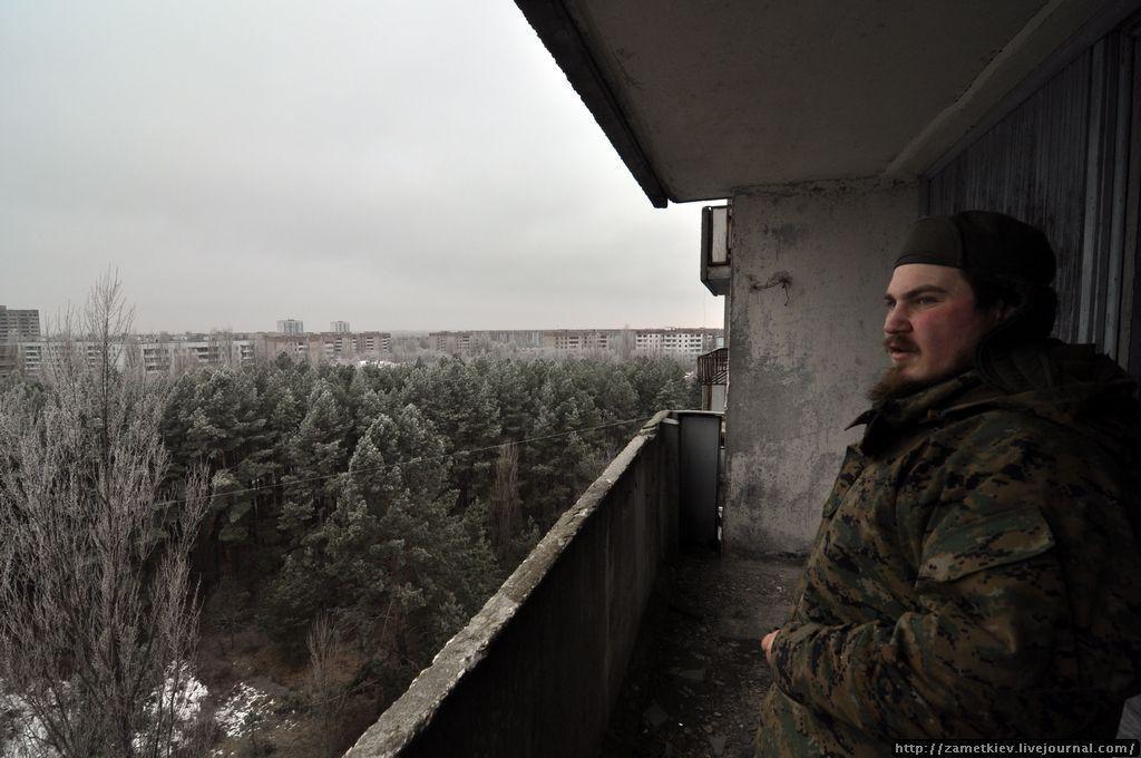Заросшие дворы Припяти