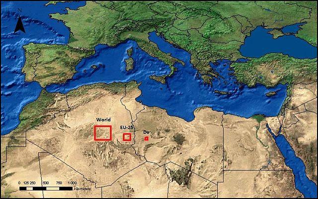 Площадь, которую необходимо покрыть солнечными батареями