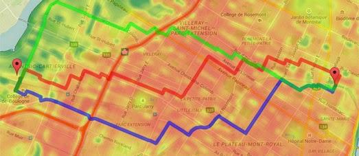 экологически чистый маршрут для велосипедиста