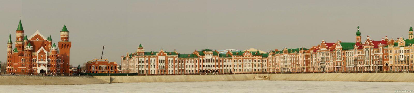 Панорама, открывающаяся с берегов реки Малая Кокшага