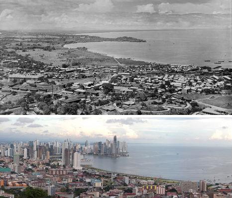 город Панама в прошлом и сейчас