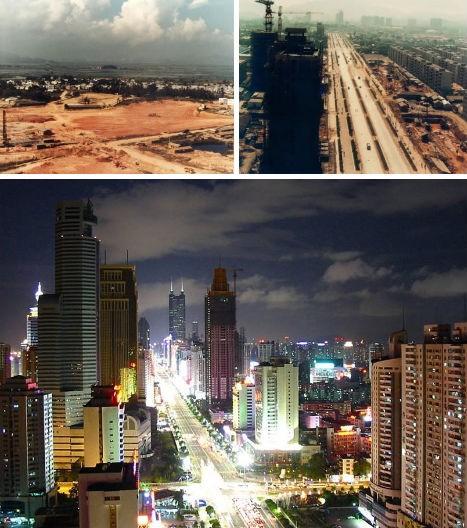 Рост города Шэньчжэнь