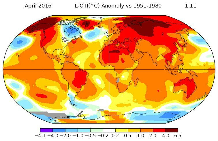 Шестой месяц кряду глобальная температура ставит рекорды