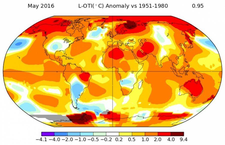 Температурные аномалии в Мае
