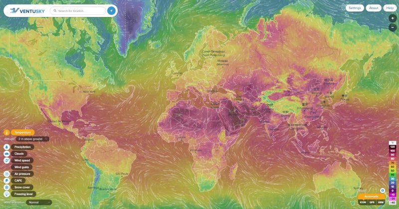 Визаулизация погоды на Земле