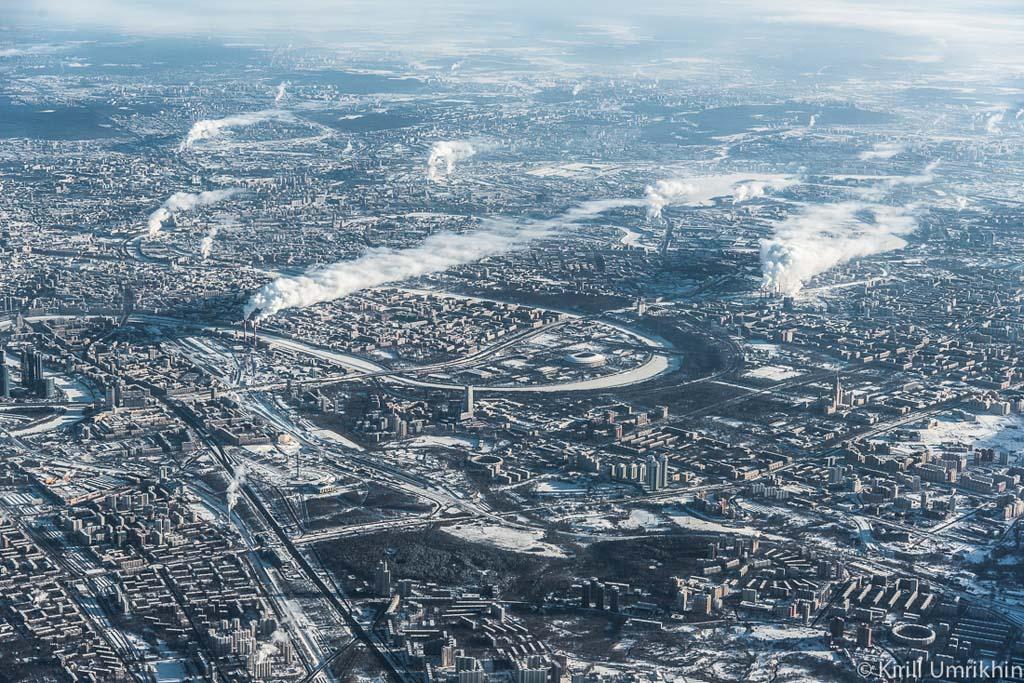 Москва с высоты птичьего полёта. Источник фото:  www.kirillumrikhin.com
