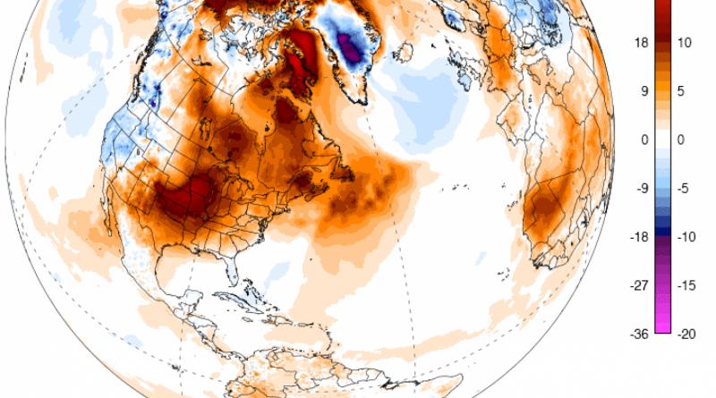 Аномальная температура в Арктике