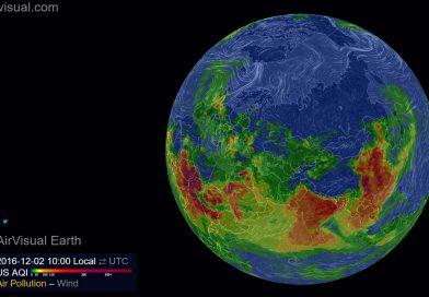 Загрязнение воздуха в 3D и режиме онлайн