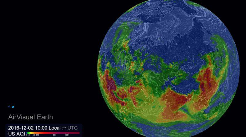 Загрязнение воздушной среды онлайн в 3D
