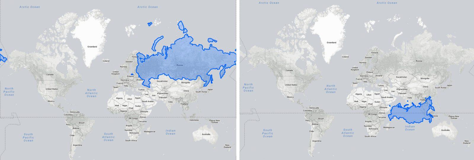 Россия не самая большая страна в мире