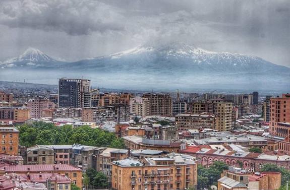 Ереван, вид открывающийся с каскада
