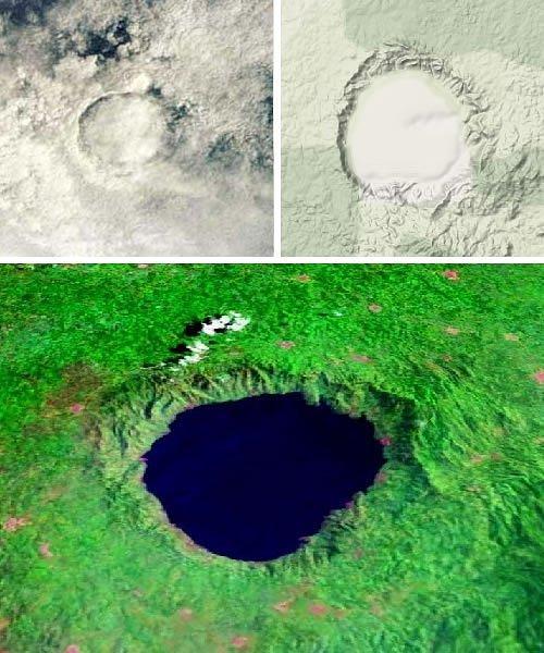 Место падение метеорита в Гане