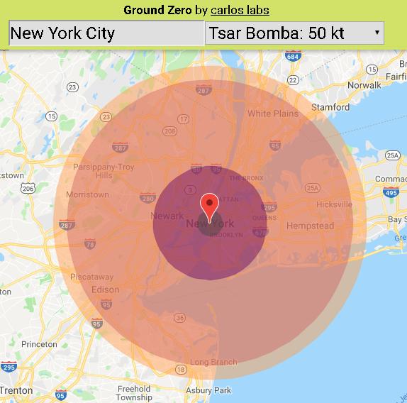 Сбрось ядерную бомбу на свой город
