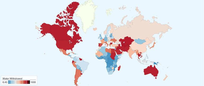 Потребление воды в мире